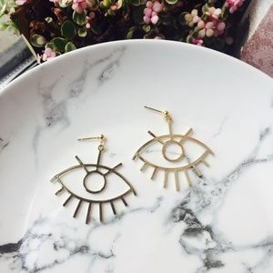 Minimalist Artists Art Eye Drop Earrings